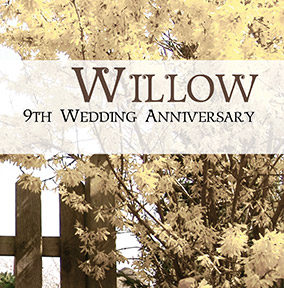 9th wedding anniversary willow gifts