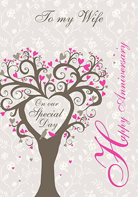 wife wedding anniversary card lovetree funky pigeon