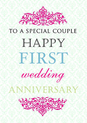First Wedding Anniversary Card Truly Madly Deeply