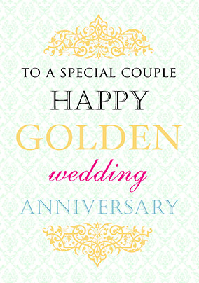 golden wedding anniversary card truly madly deeply funky pigeon