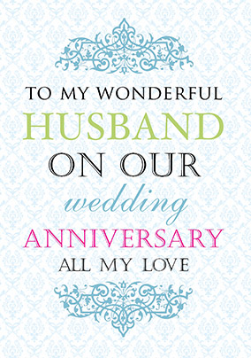 Husband Wedding Anniversary Card Truly Madly Deeply