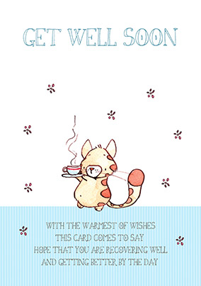Get Well Card - Cuppa Tea