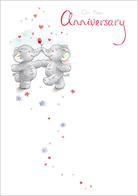 Cute Elephant Anniversary Card - Elliott and Buttons