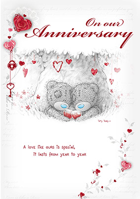 Tatty Teddy On Our Anniversary Card