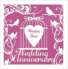 Wedding Anniversary Card - Imprint Cage