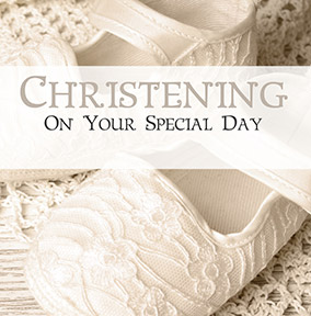 Christening Card - Antique lace