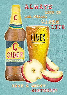 The Bright Cider Life Birthday Card