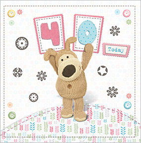 Cute Dog 40th Birthday Card