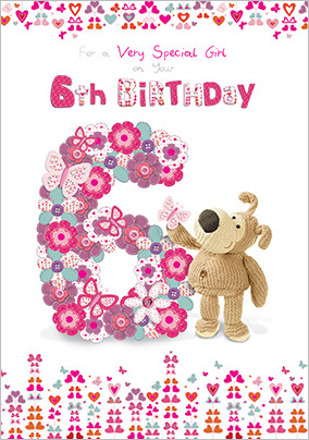 Very Special 6th Birthday Card