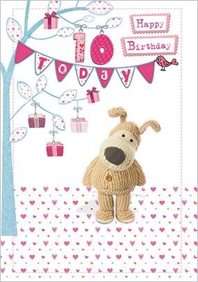 10 Today Dog Birthday Card