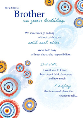 Birthday cards for brother personalised unique funky pigeon traditional brother birthday card yes preview image is not found m4hsunfo Images