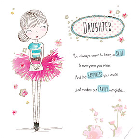 Daughter birthday cards unique special funky pigeon ballerina daughter birthday card bookmarktalkfo Gallery