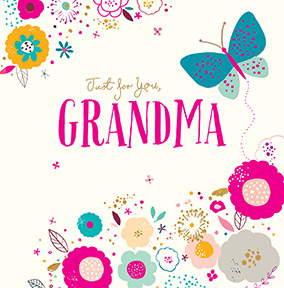 Grandma nan birthday cards funky pigeon just for you grandma birthday card bookmarktalkfo Images