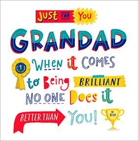 Just for you Grandad Birthday Card