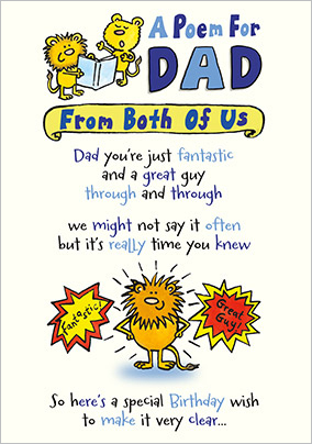 Birthday cards for dad fast delivery funky pigeon from both of us dad birthday card bookmarktalkfo Image collections