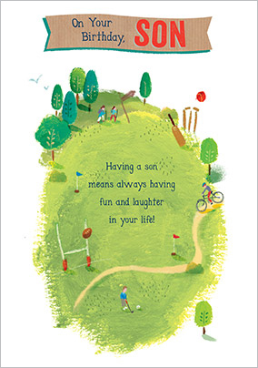 In The Park Son Birthday Card