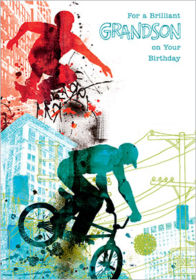 Grandson birthday cards funky pigeon urban grandson birthday card yes preview image is not found bookmarktalkfo Gallery