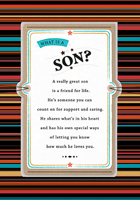 What is a Son? Birthday Card