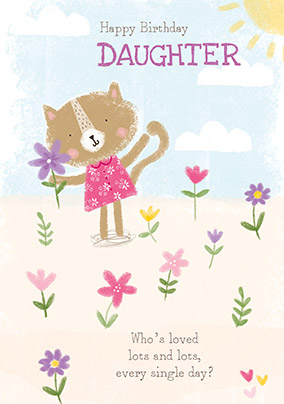 Loved Lots Cat Daughter Birthday Card