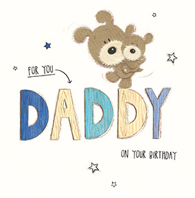 Birthday cards for dad fast delivery funky pigeon cute dog daddy birthday card bookmarktalkfo Images