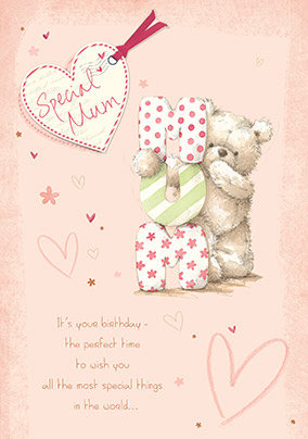 Special Mum Birthday Card - Tedward bear