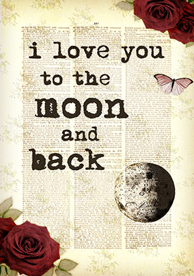 Love You to the Moon & Back Valentine