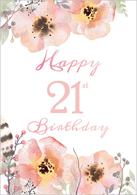 21st birthday cards buy send funky pigeon floral boutique 21st birthday card bookmarktalkfo Image collections