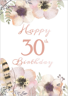 30th birthday cards buy send funky pigeon floral boutique 30th birthday card bookmarktalkfo Image collections