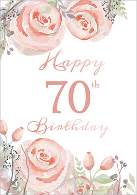 70th birthday cards personalised unique funky pigeon floral boutique 70th birthday card bookmarktalkfo Choice Image