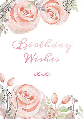 Floral Boutique Birthday Wishes Card