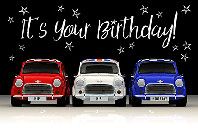 Red, White & Blue Minis Birthday Card