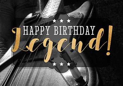Guitar Legend Birthday Card