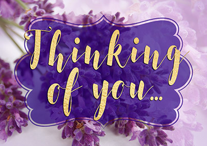 Lavender Thinking of You Greeting Card