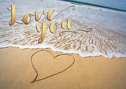 Sand and Sea Love You Greeting Card