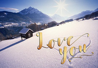 Love on the Piste Greeting Card