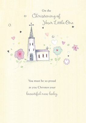 Traditional Christening of your Little One Card