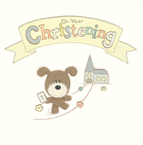 On your Christening Dog & Church Christening Card