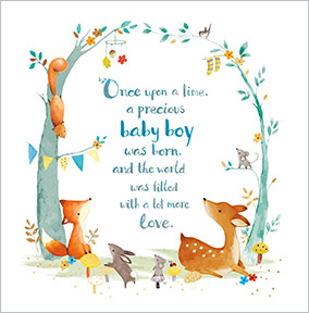 new baby boy congratulations card fawn squirrel