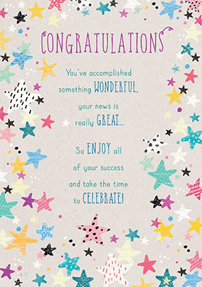 Time to Celebrate! Congratulations Card