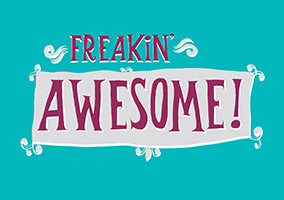 Just Wink Congratulations Card - Freaking Awesome