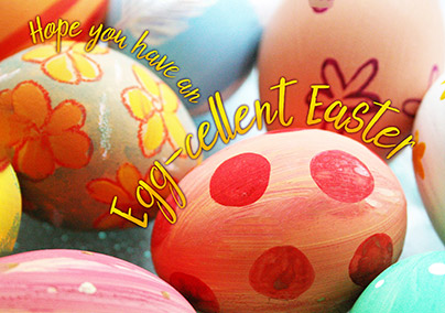 Painted Eggs Easter Card