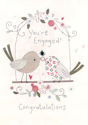 Two Birds Engagement Card