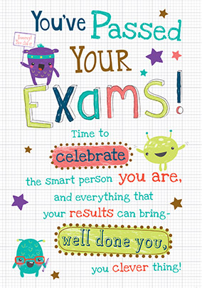 Smart Person Exam Congratulations Card