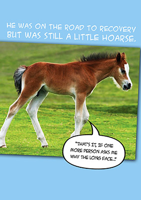 A Little Hoarse Get Well Soon Card