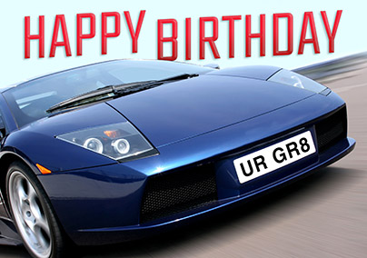 Other Sports Funky Pigeon Jpg 404x284 Happy Birthday Card Car