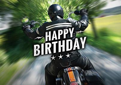 Motorbike Biker Birthday Cards – Motorbike Birthday Cards