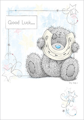 Me to You Tatty Teddy and Horse Shoe Good Luck Card