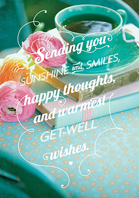 Sunshine an Smiles Get Well Soon Card