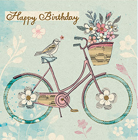 Traditional birthday cards funky pigeon ladies bicycle birthday card bookmarktalkfo Image collections