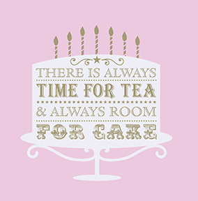 Time for Tea & Cake Birthday Card